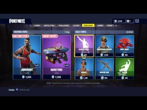 FORTNITE Live Daily Item Shop - 1.6.18 (NEW Items ...