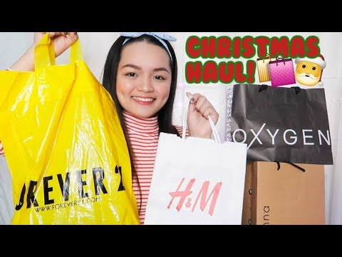 CHRISTMAS SHOPPING HAUL 2017! (Forever 21, H&M, SM Store, etc.) Philippines | Monica Garcia ♡