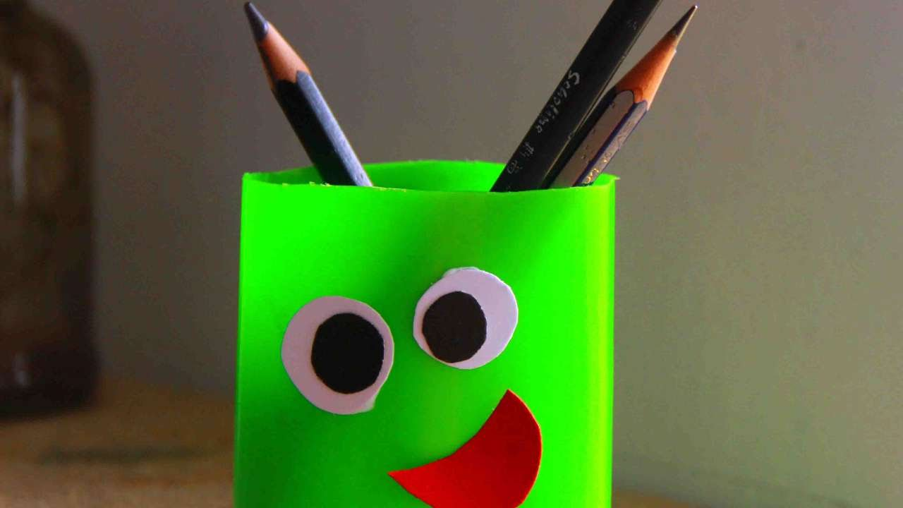 How To Make A Fun Pen Holder For Kids