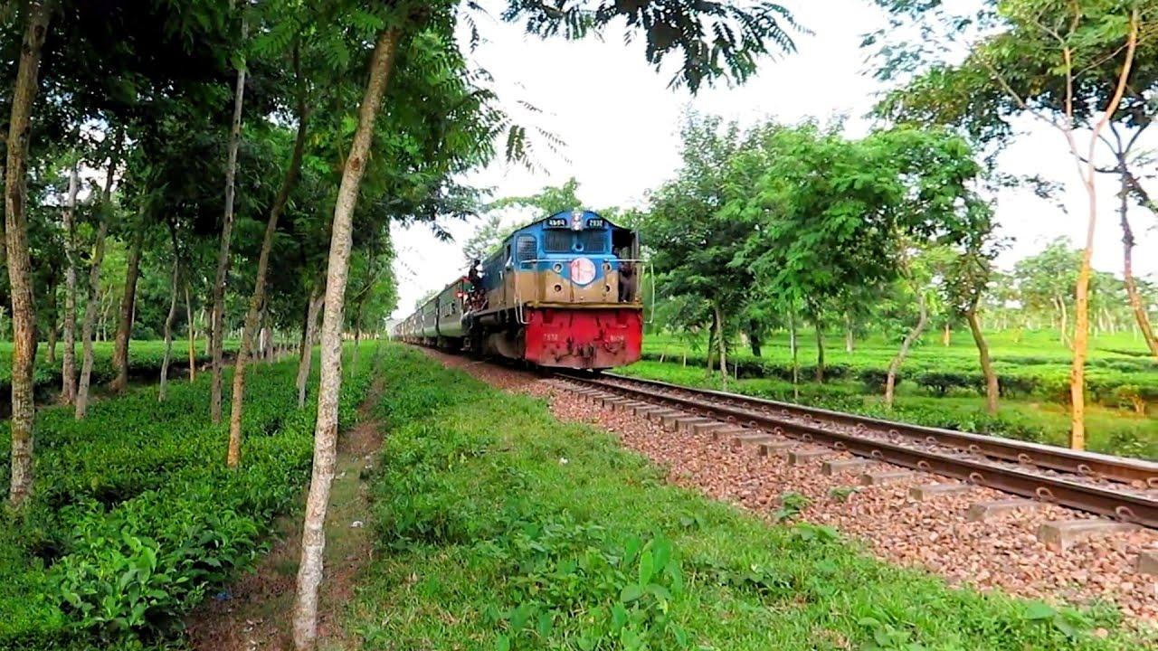 parabot Express in Srimongol Tea garden ||| Dhaka sylhet Train