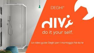 Come montare un box doccia rettangolare Lite - TUTORIAL Deghi