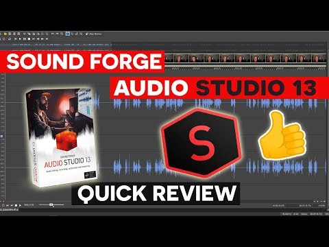 Sound Forge Audio Studio 13 - Audio Editing Software Review