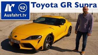 2019 Toyota GR Supra 3.0 Active (A90) - Kaufberatung, Test deutsch, Review, Fahrbericht Ausfahrt.tv