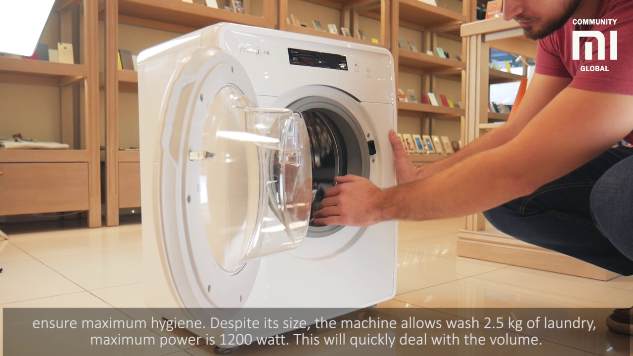 Smart Washing Machine Xiaomi MiniJ - YouTube