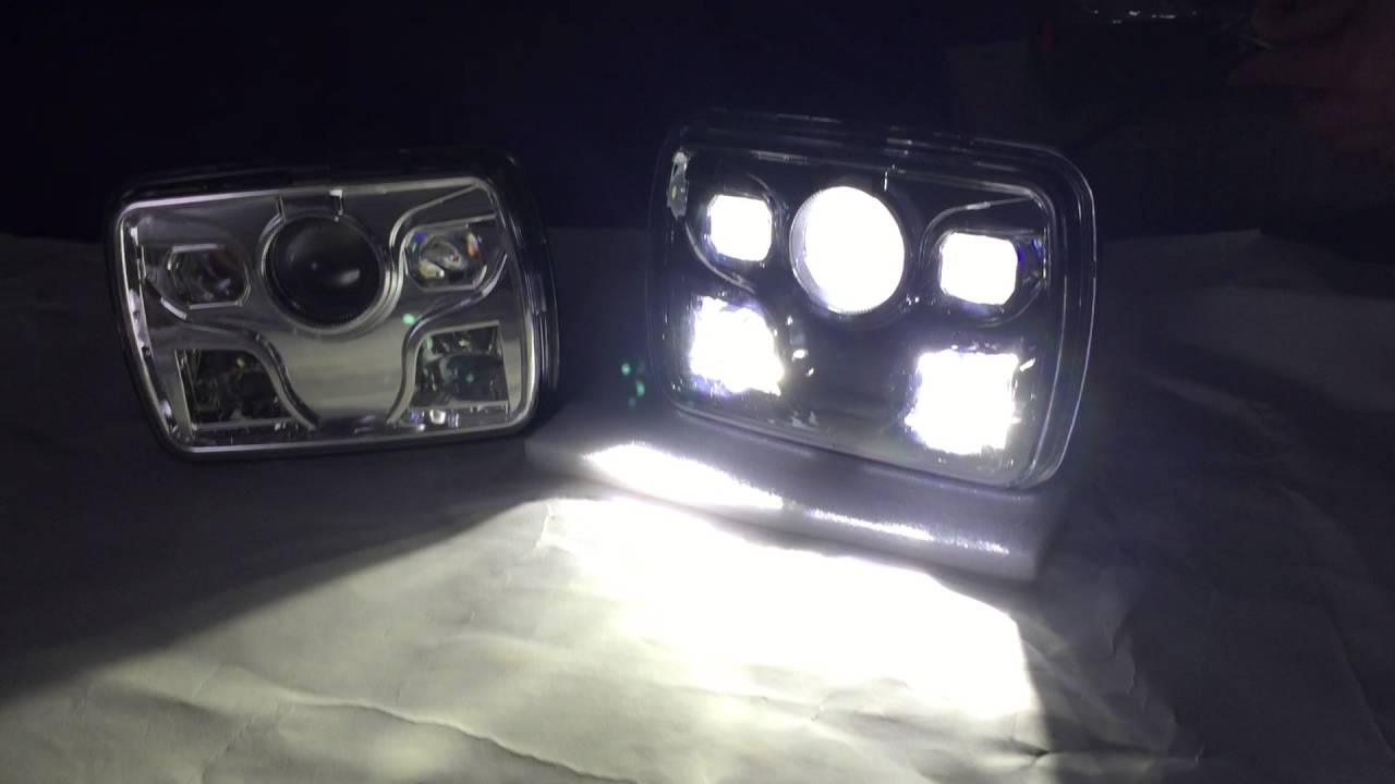 60w Cree High Low Beam Led Light 5x7 Led Headlight For Jeep YouTube