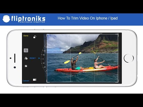 How To Trim Video On Iphone / Ipad IOS 10 - Fliptroniks.com
