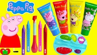 Best Learning Video for Toddlers Learn Colors Peppa Pig Play with Paints