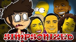 EL CRINGE SE PINTA DE AMARILLO| Simpsonized | Markylive