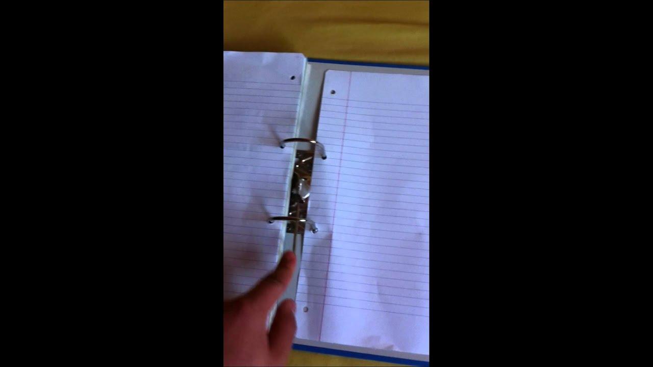 Tuto 6 comment mettre une feuille dans son classeur youtube - Comment customiser un classeur ...