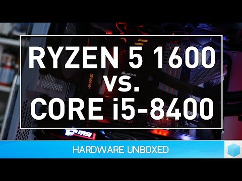 Core i5 8400 vs. Ryzen 5 1600 Overclocked, Gaming Benchmark