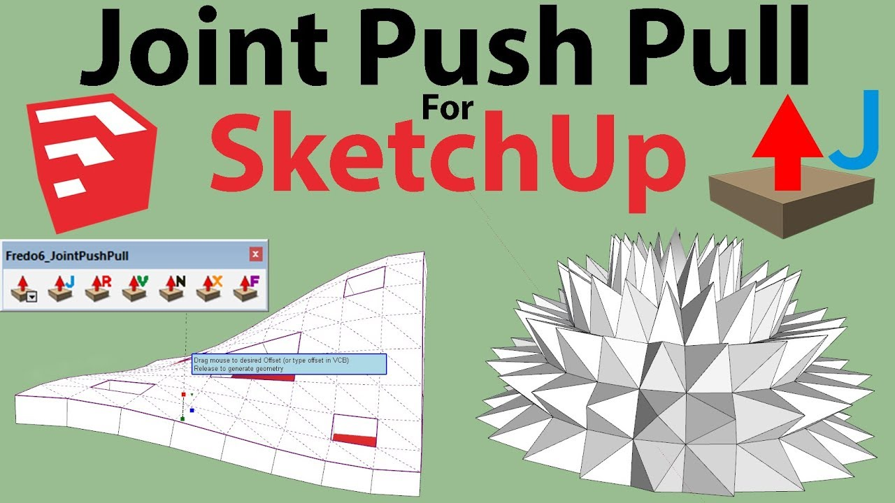 How To Use Joint Push Pull Plugin Sketchup Youtube