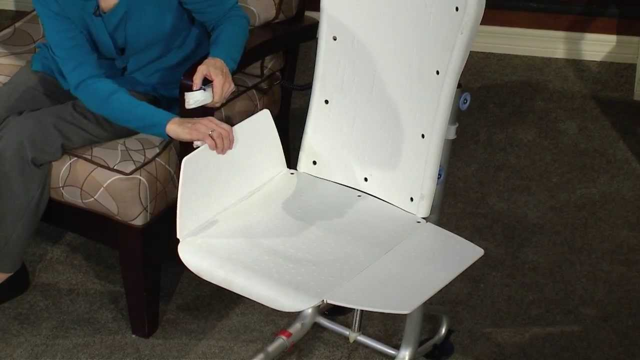 Powered Bath Lift Chair - Bathtub Lifts - Bidet Seats - YouTube