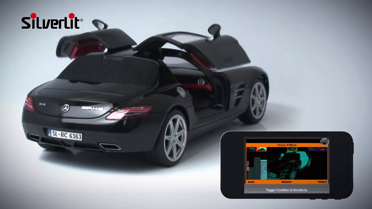 Silverlit bluetooth mercedes sls amg with rc tunes youtube for Silverlit mercedes benz sls amg