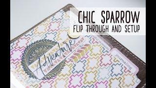 chic sparrow a6 flip through   traveler s notebook setup   july 2017