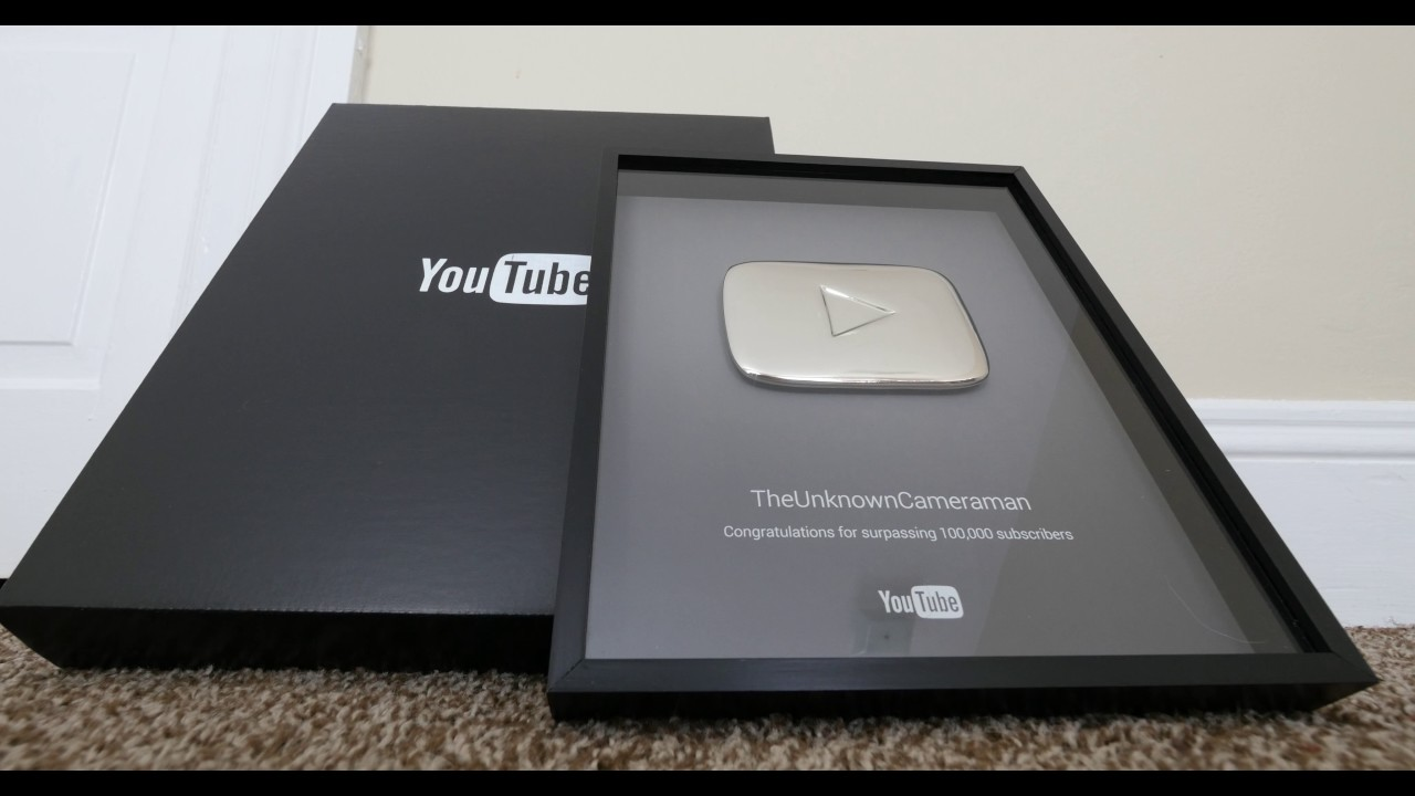 youtube silver play button for 100 000 subscribers youtube. Black Bedroom Furniture Sets. Home Design Ideas