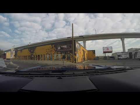 Driving through Calgary Downtown