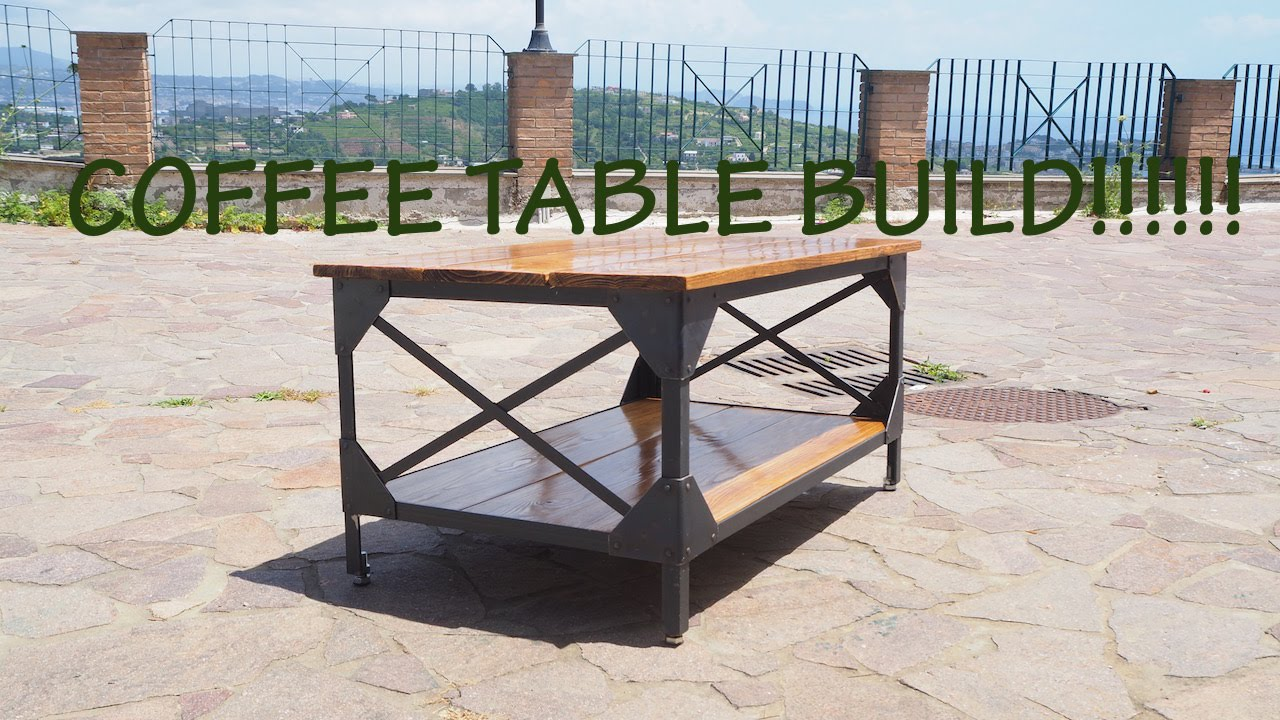 How to make a rustic coffee table youtube how to make a rustic coffee table geotapseo Image collections