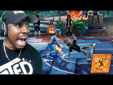 CURRY BREAKING ANKLES IN HALLOWEEN UPDATE! NBA 2k Playgrounds 2 Gameplay Ep. 9