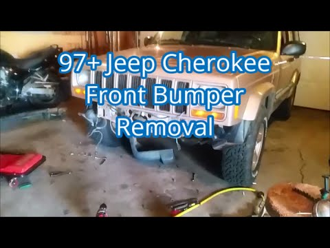 97+ XJ Front Bumper Removal Part 1/2 - 2000 Jeep Cherokee