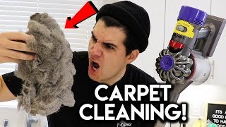 CLEANING MY CARPET FOR THE FIRST TIME! **CLEAN WITH ME**