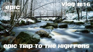 Vlog #16: An EPIC landscape photography trip in the snow: Promenade de la Hoëgne, High Fens Belgium