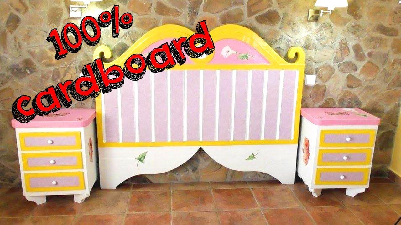 Diy Crafts Cardboard Furnitures Headboard For Bed Diy