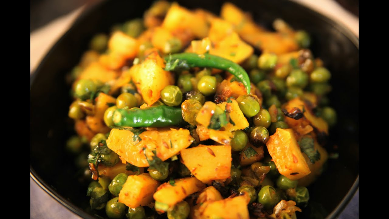Dry aloo mutter potato and peas dry vegetable by seema youtube forumfinder Image collections
