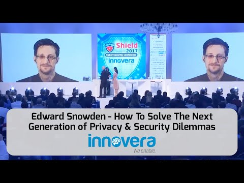 Edward Snowden - How To Solve The Next Generation of Privacy & Security Dilemmas