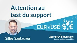 Analyse technique de la paire de devises EUR-USD, attention au test du support