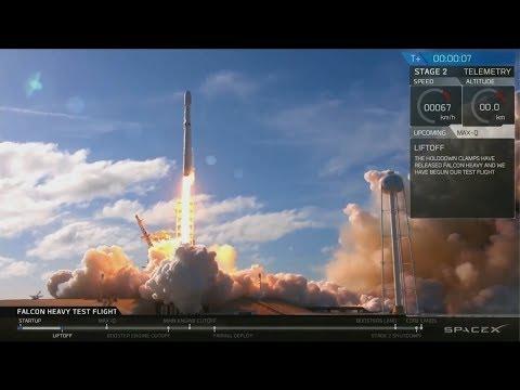 🚀Запуск Falcon Heavy на орбиту Марса Илон Маск Фалькон   SpaceX  