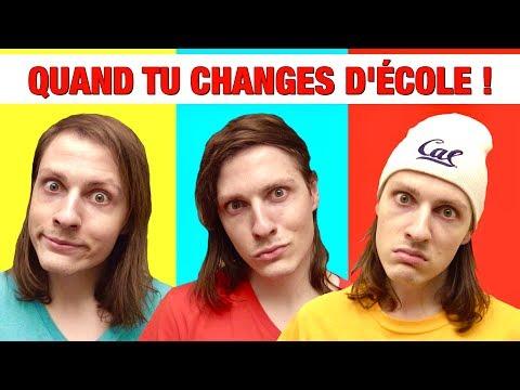 QUAND TU CHANGES D'ÉCOLE ! PRIMAIRE, COLLÈGE, LYCÉE - DELIRES DE MAX