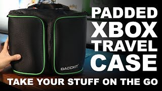 Dacckit Xbox Carrying Bag – Travel Case for Xbox One S and One X – Xbox Travel Set Up