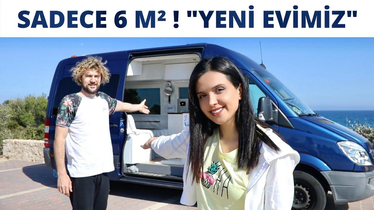Kocamla 24 Saat Boyunca 6 m² Minicik Evde Yaşamak !! Temelli Karavana Taşındık! 🚐