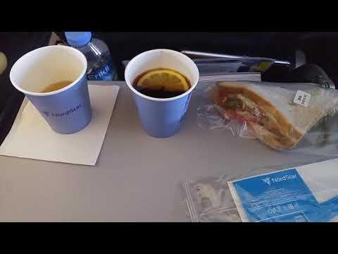 Питание на борту авиакомпании NordStar, рейс Анталья -Домодедово