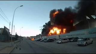 Explosión fabrica en Paterna 8/2/2017 ( Fuente del Jarro ) Valencia