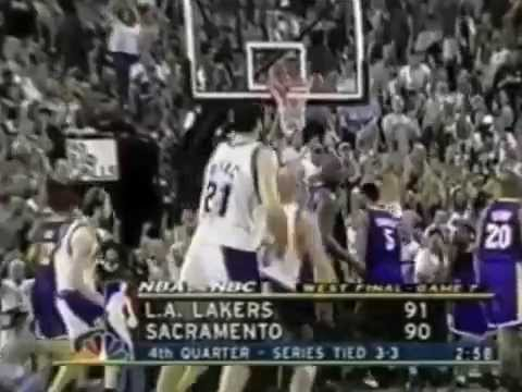 Kobe Bryant shows respect to Mike Bibby (Kings vs Lakers GAME 7 2002)
