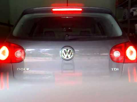 Plafoniera Targa Led Golf 7 : Modifica fari posteriori golf 5 youtube