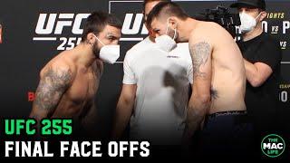 UFC 255: Final Face Offs