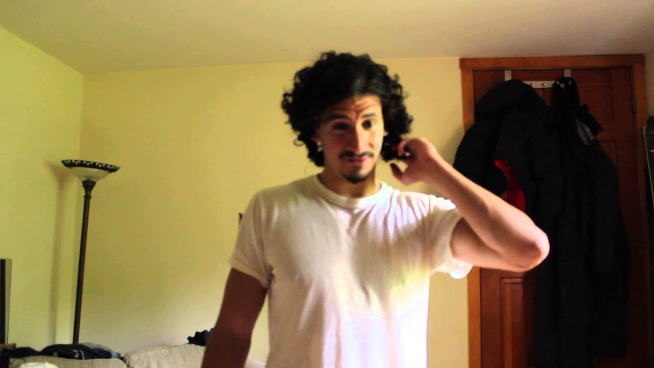 Men Curly Long Hair Growth Month 10