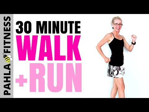 30 Minute Indoor WALK + RUN | The Best Way to Get RESULTS in Your Walking + Running Workout Routine