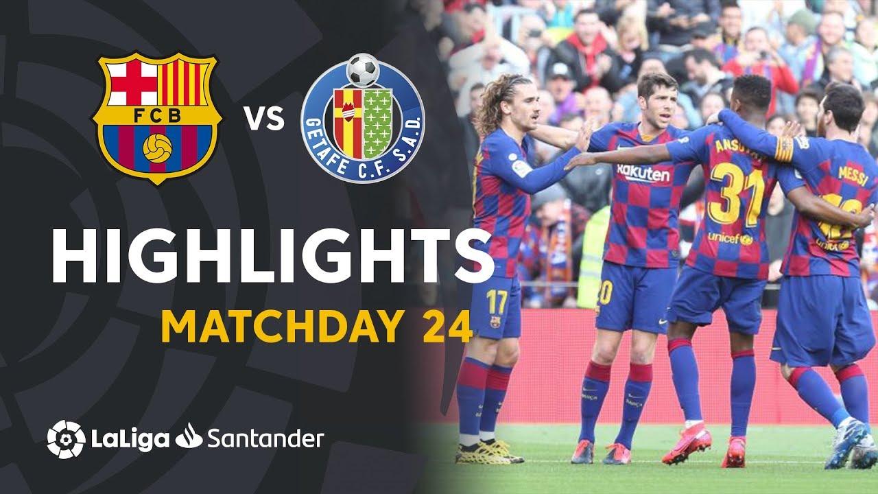 Barcelona vs Getafe | Resumen | Highlights 15/02/2020 ...  |Getafe- Barcelona