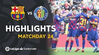 Highlights FC Barcelona vs Getafe CF (2-1)