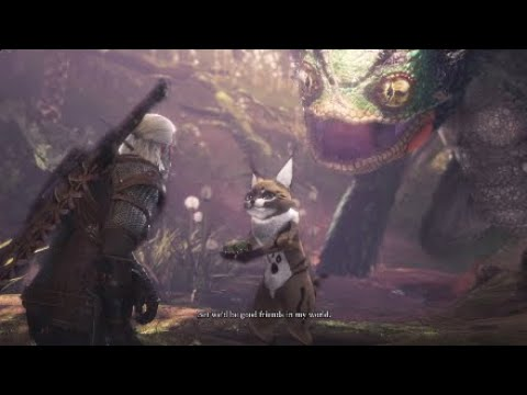 Monster Hunter World Geralt Pukei Pukei in Peril Side Quest Witcher 3 Crossover
