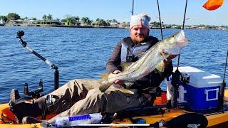 Рыбалка два трофея отличный день на воде Каяк для рыбалки Зимняя рыбалка на Флориде