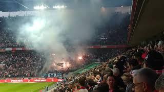 Pyro vor dem Anpfiff: 1. FC Köln - Hamburger SV HSV 15.04.2019