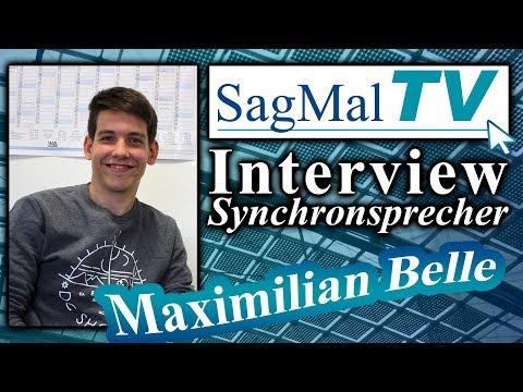 SagMalTV // Interview: Synchronsprecher Maximilian Belle