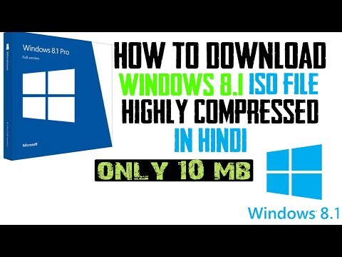 How To Download Windows 8.1 ISO File Highly Compressed In Hindi (Only 9.5 Mb) || T4technology
