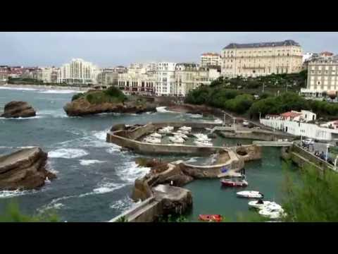 The Biarritz seafront