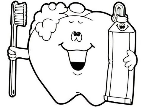 It is a graphic of Exceptional Teeth Coloring Sheet