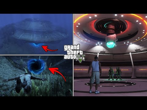 What Happens If You Visit The Underwater UFO In GTA 5 After 100% Completion? (Hidden Entrance)
